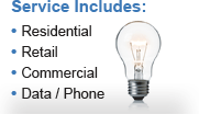 Service Includes: Residential, Retail, Commercial and Data/Phone